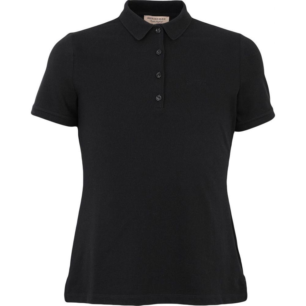 バーバリー BURBERRY メンズ ポロシャツ トップス【polo shirt】Black