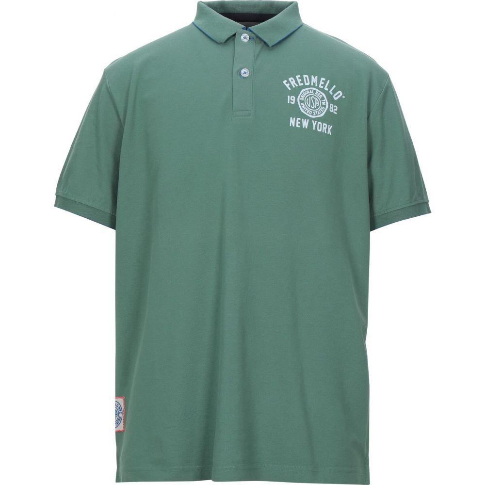 フレッド メロー FRED MELLO メンズ ポロシャツ トップス【polo shirt】Green