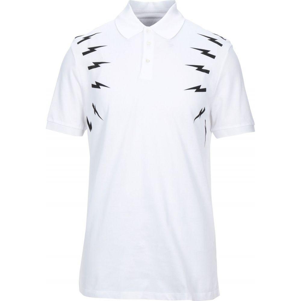 ニール バレット NEIL BARRETT メンズ ポロシャツ トップス【polo shirt】White