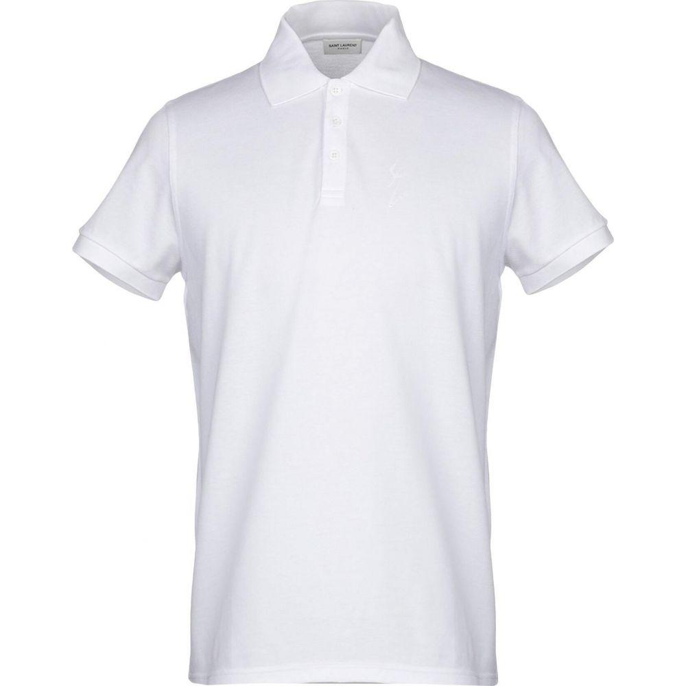 イヴ サンローラン SAINT LAURENT メンズ ポロシャツ トップス【polo shirt】White