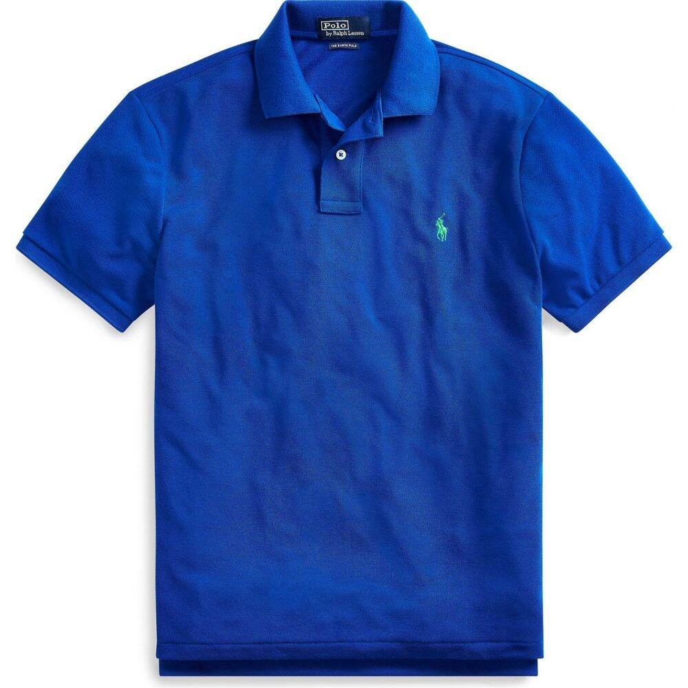 ラルフ ローレン POLO RALPH LAUREN メンズ ポロシャツ トップス【custom slim recycled mesh polo shirt】Bright blue