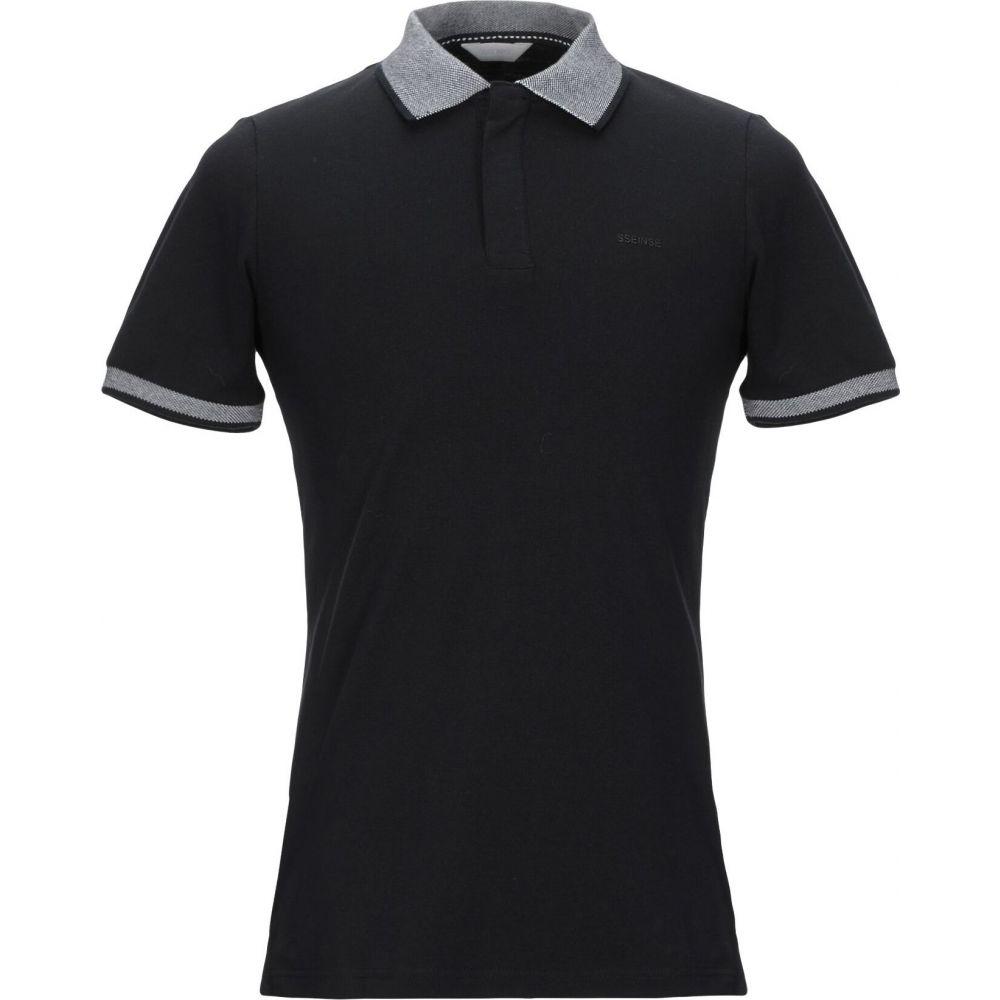 センス SSEINSE メンズ ポロシャツ トップス【polo shirt】Black