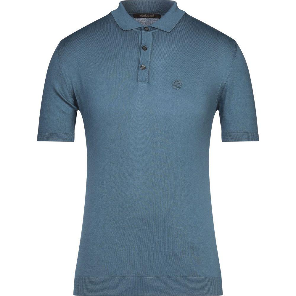 ロベルト カヴァリ ROBERTO CAVALLI メンズ ポロシャツ トップス【polo shirt】Deep jade