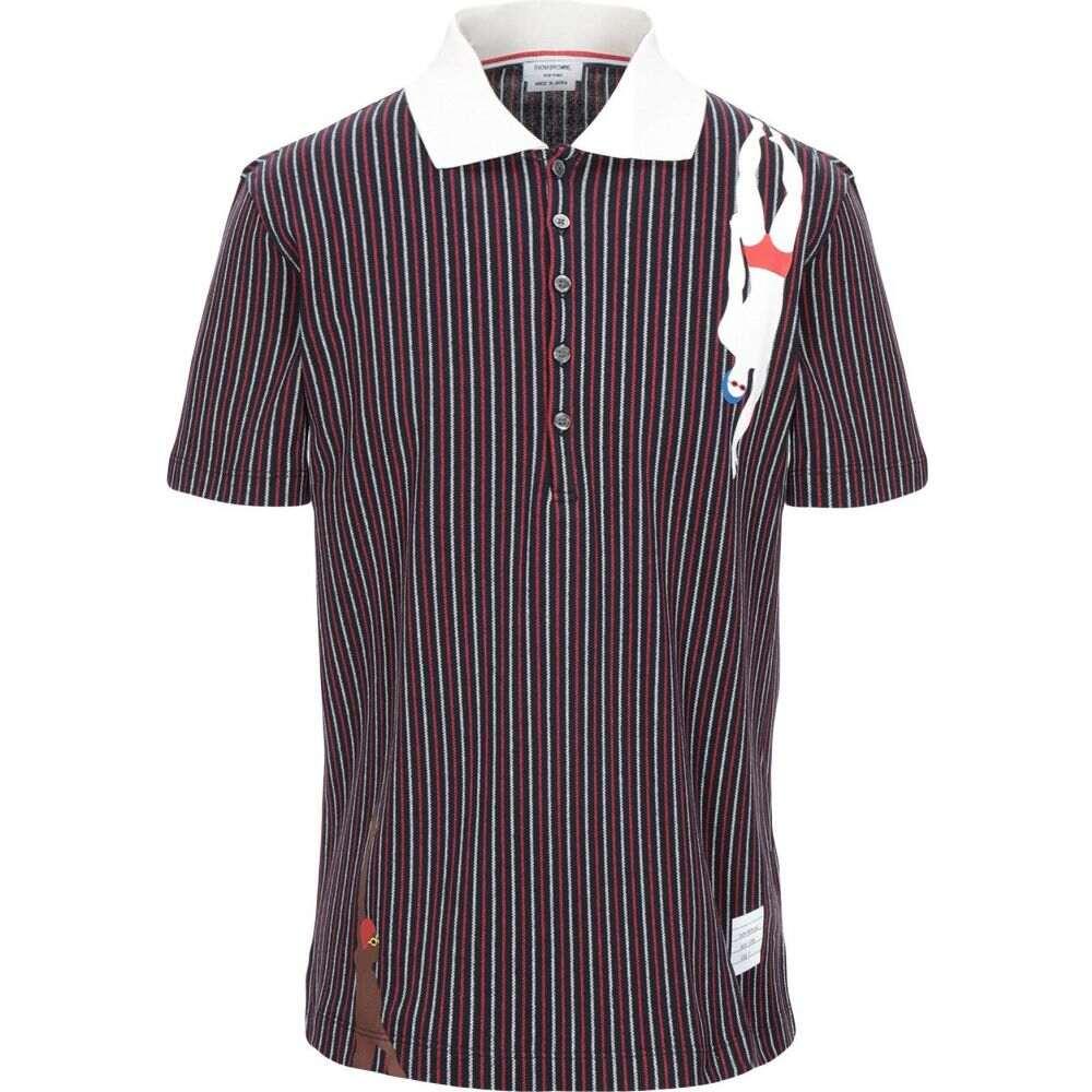トム ブラウン THOM BROWNE メンズ ポロシャツ トップス【polo shirt】Dark blue