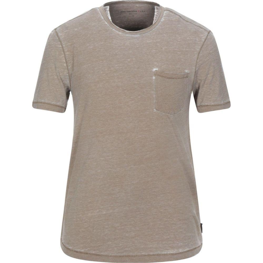 ジョン バルベイトス JOHN VARVATOS U.S.A. メンズ Tシャツ トップス【t-shirt】Light brown