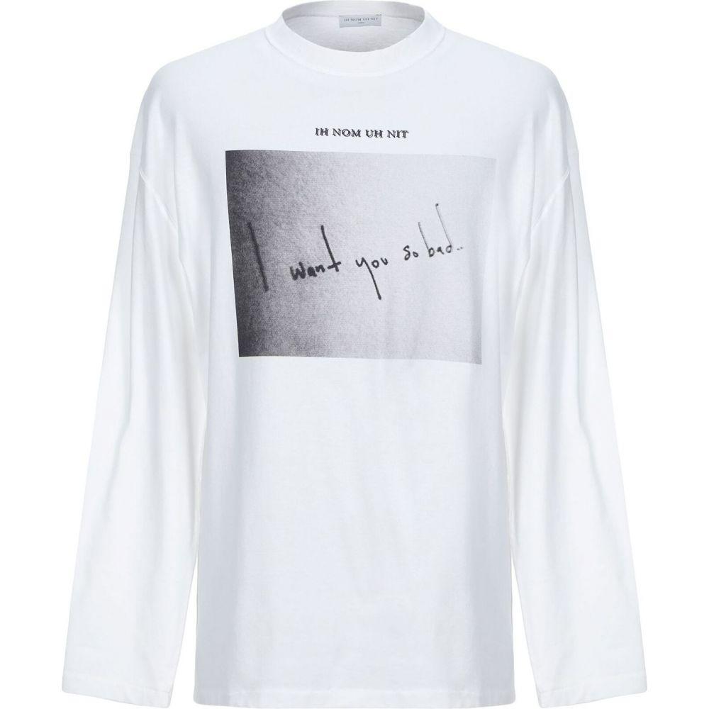 インノミネイト IH NOM UH NIT メンズ Tシャツ トップス【t-shirt】White