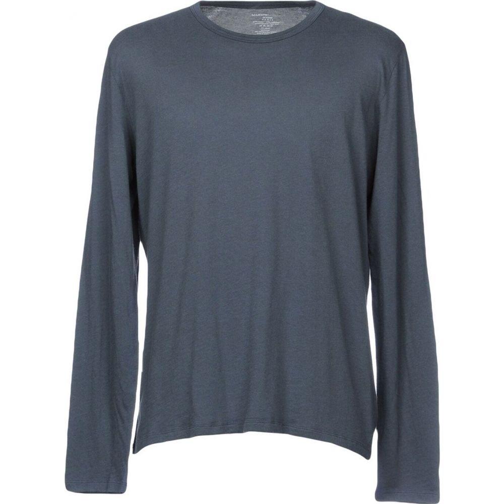 マジェスティック MAJESTIC FILATURES メンズ Tシャツ トップス【t-shirt】Slate blue