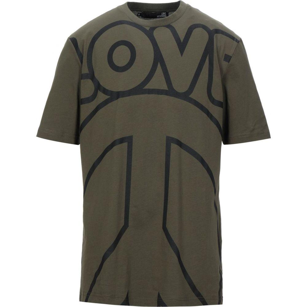 モスキーノ LOVE MOSCHINO メンズ Tシャツ トップス【t-shirt】Military green
