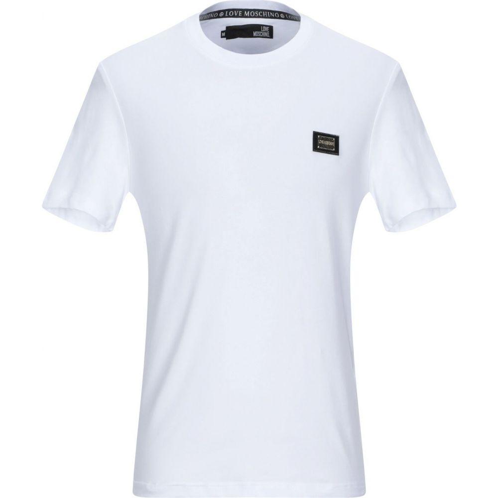 ファッションの モスキーノ LOVE モスキーノ MOSCHINO メンズ Tシャツ LOVE トップス メンズ【t-shirt】White, カワモトマチ:43c191a5 --- samecounselingfoundation.org