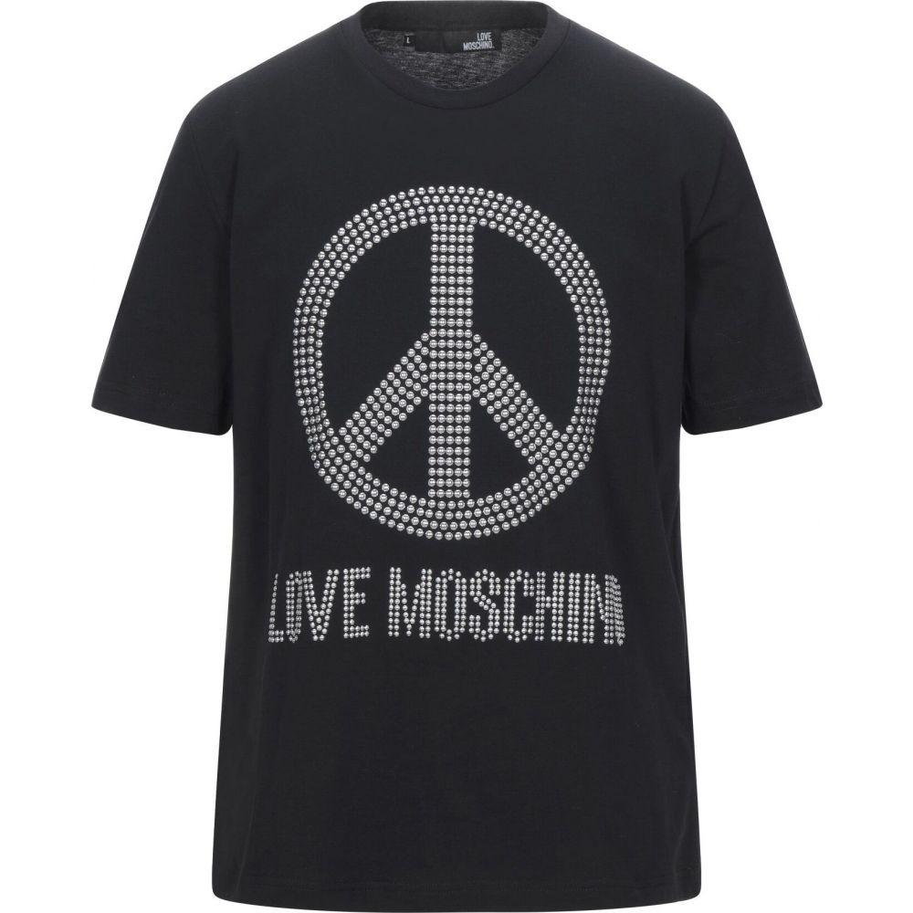 モスキーノ LOVE MOSCHINO メンズ Tシャツ トップス【t-shirt】Black