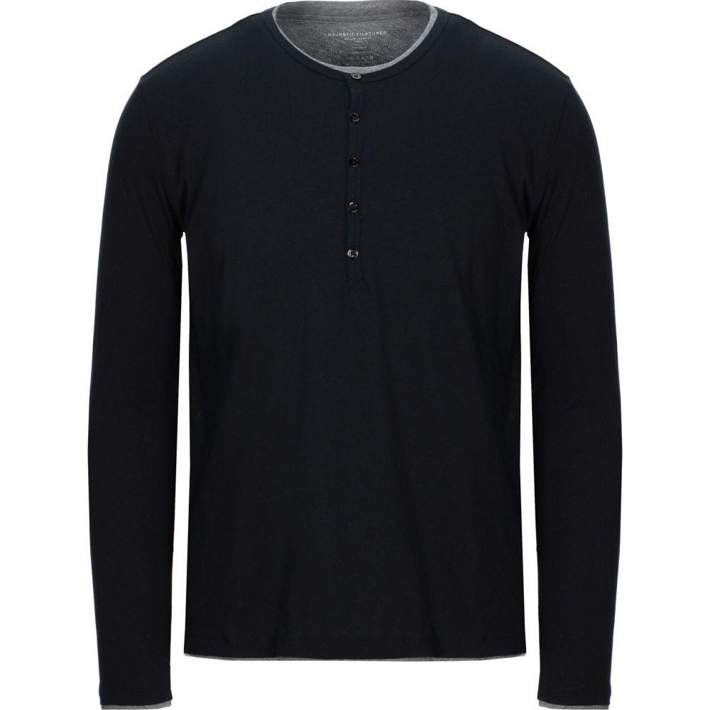 マジェスティック MAJESTIC FILATURES メンズ Tシャツ トップス【t-shirt】Black