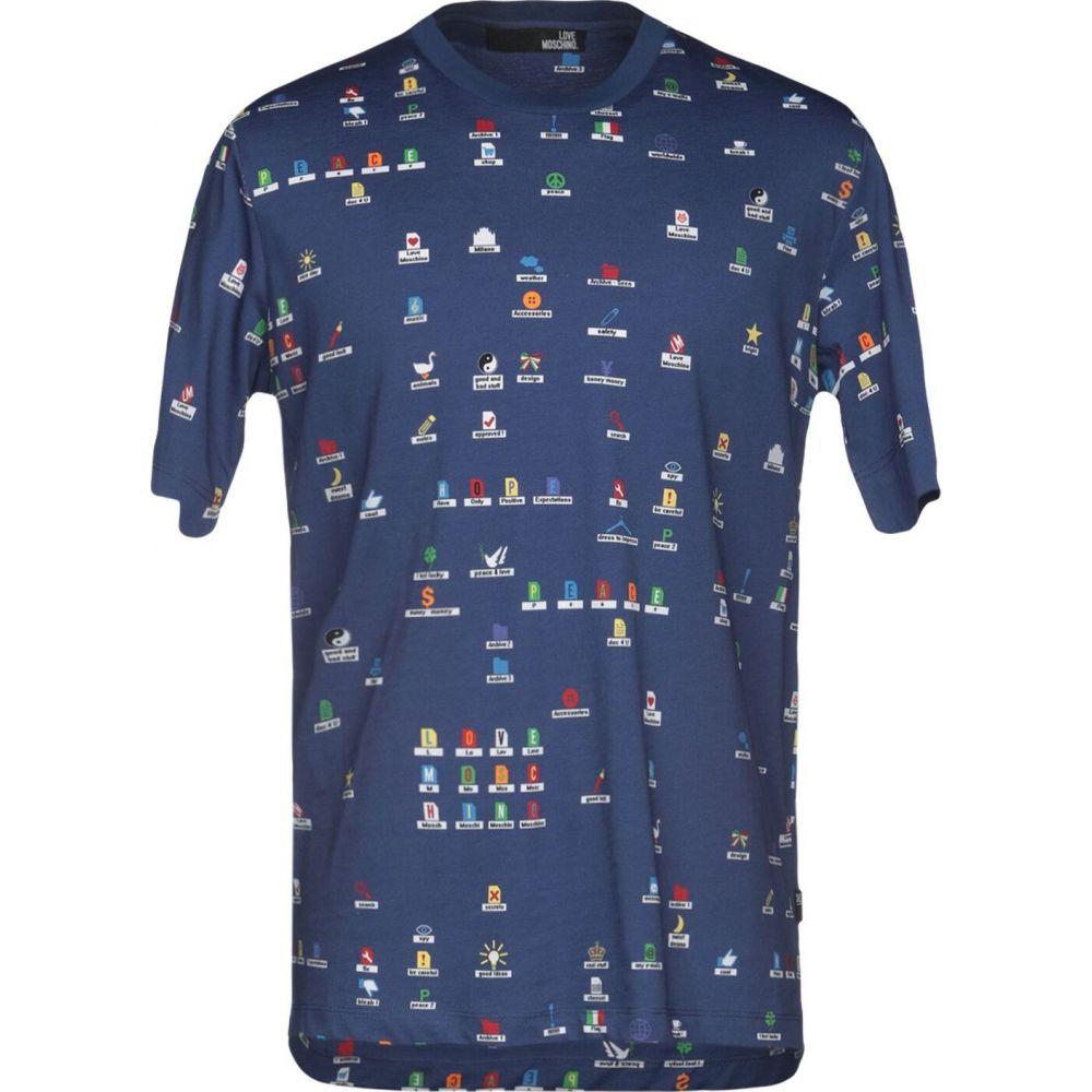 モスキーノ LOVE MOSCHINO メンズ Tシャツ トップス【t-shirt】Blue