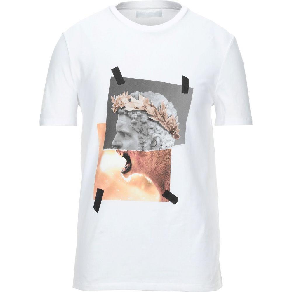 ニール バレット NEIL BARRETT メンズ Tシャツ トップス【t-shirt】White