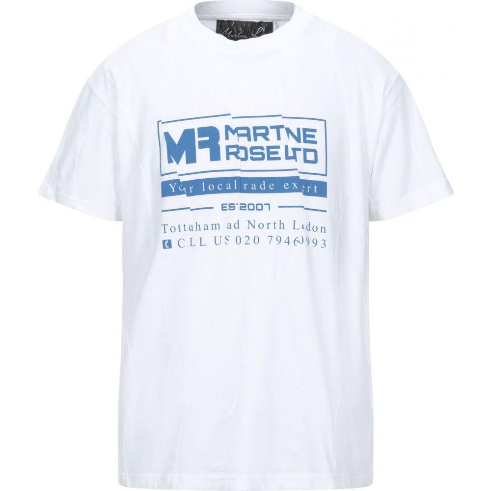 マーティン ローズ MARTINE ROSE メンズ Tシャツ トップス【t-shirt】White