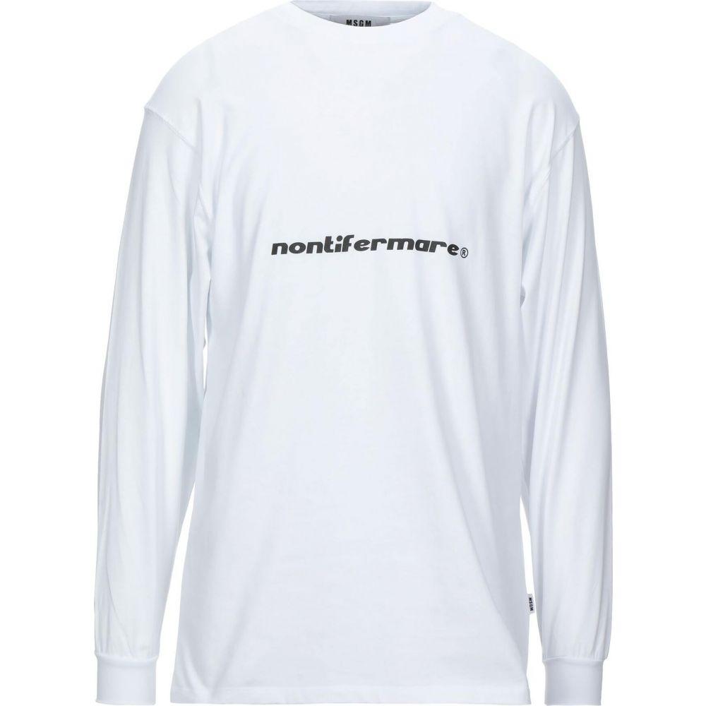 エムエスジーエム MSGM メンズ Tシャツ トップス【t-shirt】White