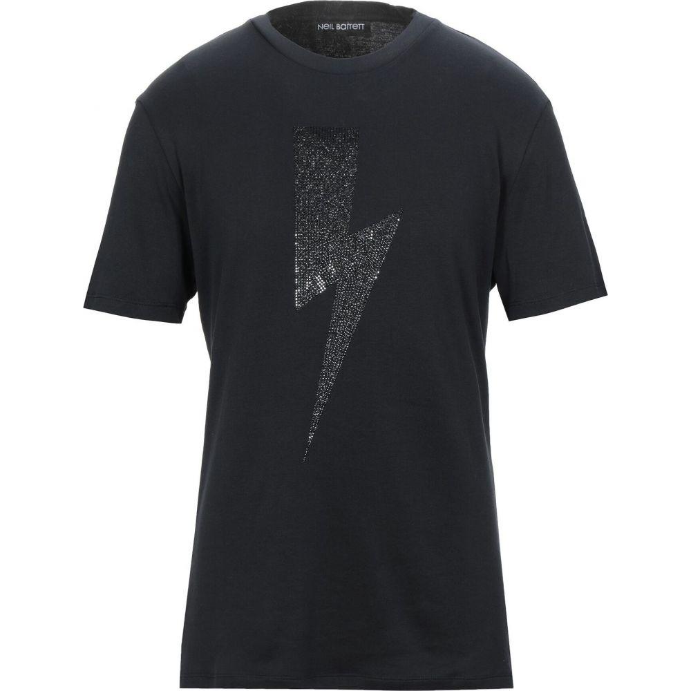 ニール バレット NEIL BARRETT メンズ Tシャツ トップス【t-shirt】Black