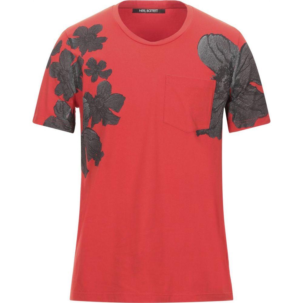 ニール バレット NEIL BARRETT メンズ Tシャツ トップス【t-shirt】Red