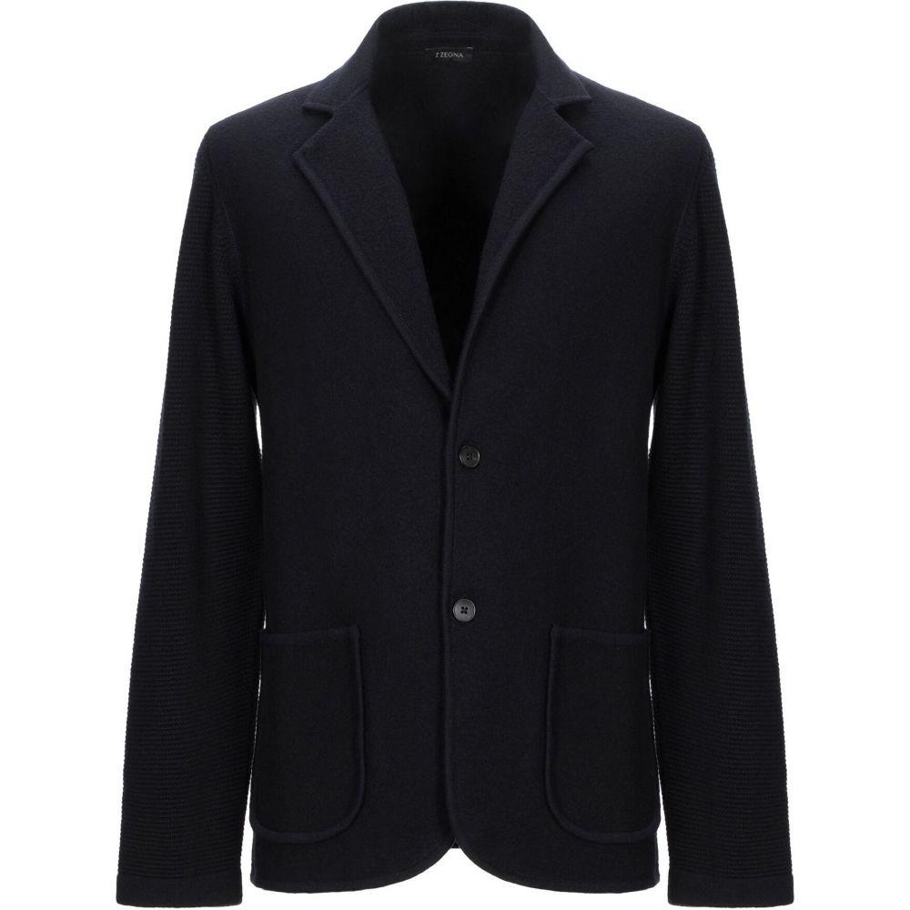 ZZEGNA メンズ スーツ・ジャケット アウター【blazer】Dark blue