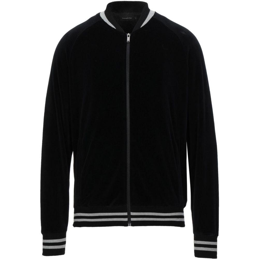 エルメネジルド ゼニア ERMENEGILDO ZEGNA メンズ スウェット・トレーナー トップス【sweatshirt】Black