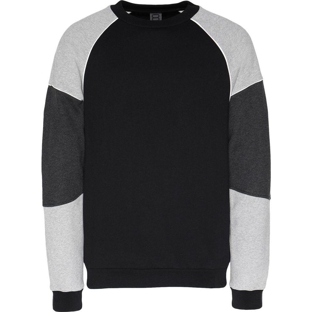 オット バイ ユークス 8 by YOOX メンズ スウェット・トレーナー トップス【organic cotton colorblock sweatshirt】Grey