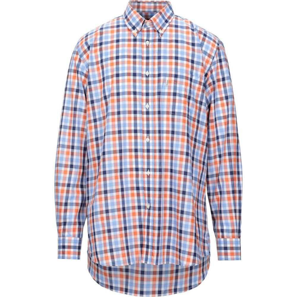 バブアー BARBOUR メンズ シャツ トップス【checked shirt】Orange
