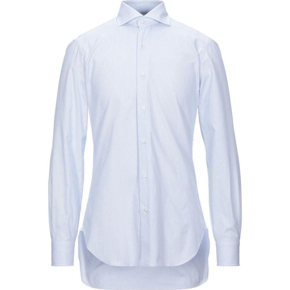 バルバ BARBA Napoli メンズ シャツ トップス【striped shirt】Sky blue
