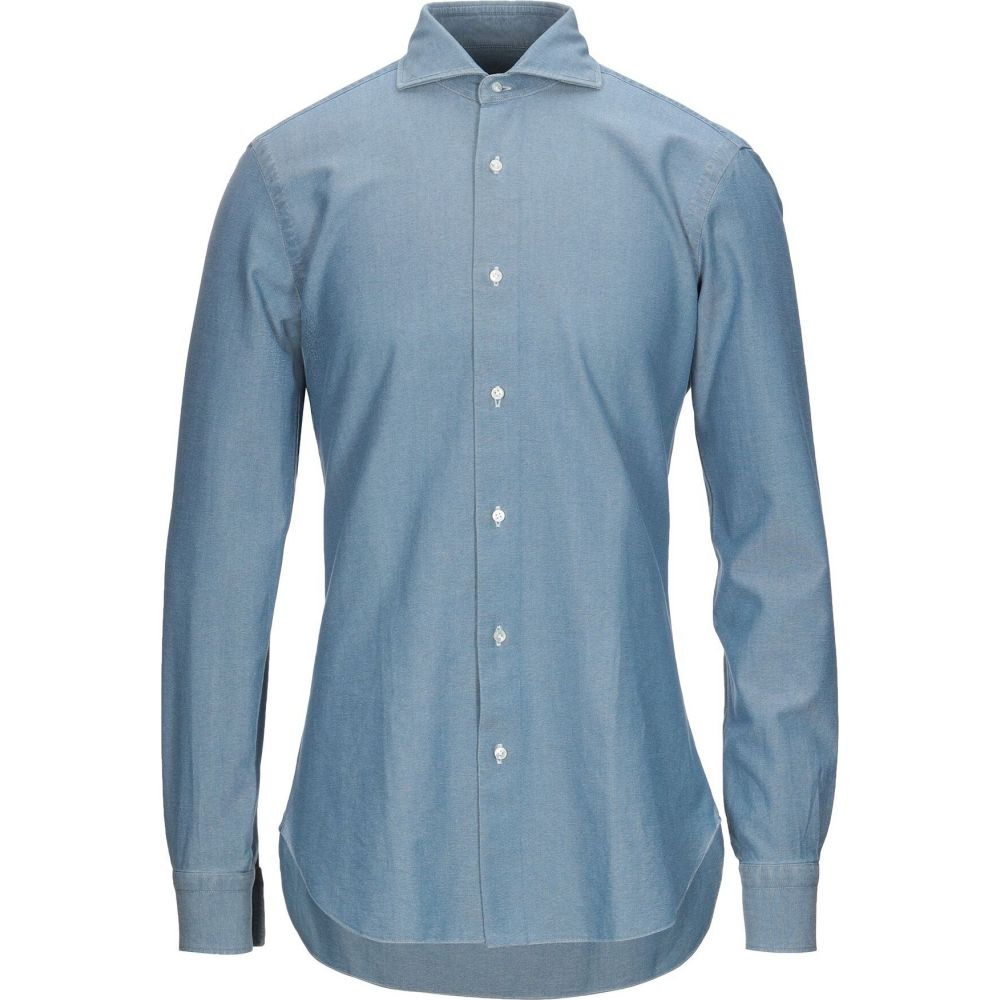 バルバ BARBA Napoli メンズ シャツ トップス【patterned shirt】Blue