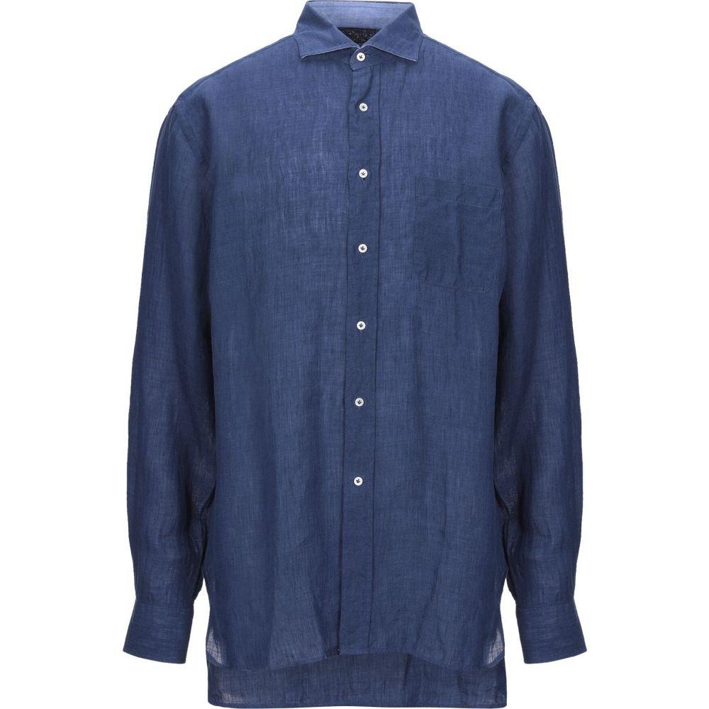 アレッサンドロ ゲラルディ ALESSANDRO GHERARDI メンズ シャツ トップス【linen shirt】Blue