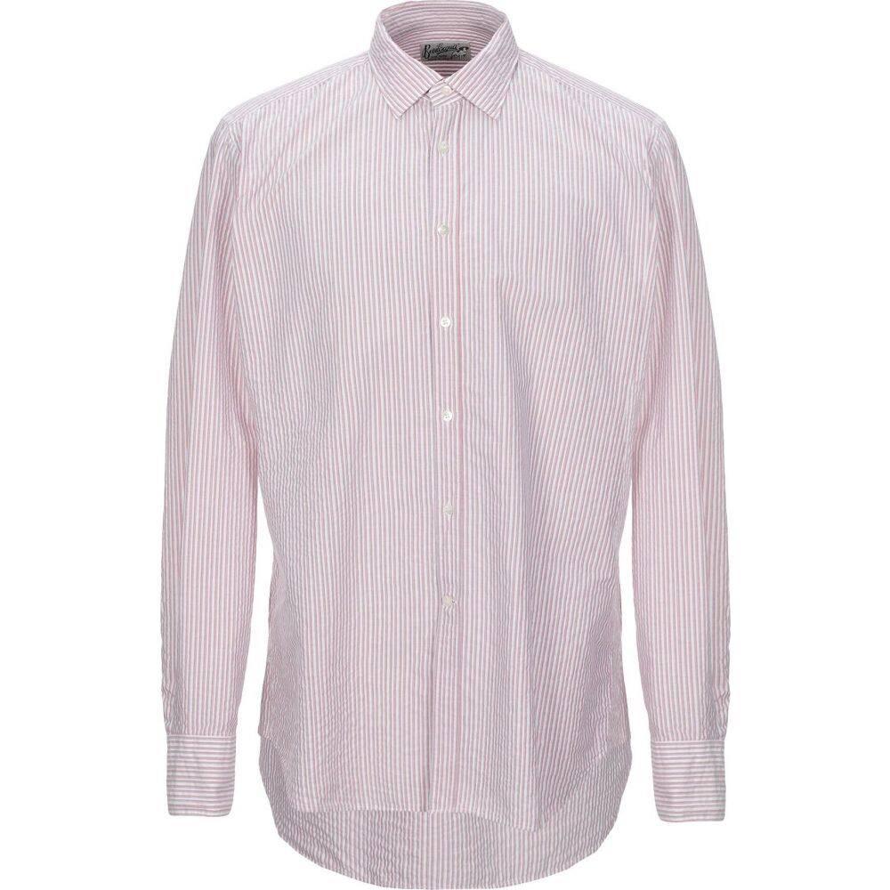 ベヴィラクア BEVILACQUA メンズ シャツ トップス【striped shirt】Red