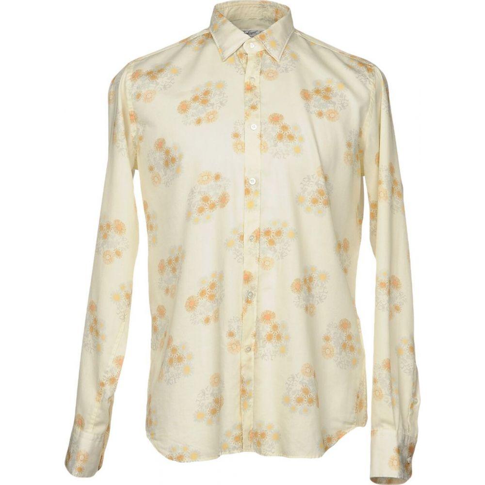 ベヴィラクア BEVILACQUA メンズ シャツ トップス【patterned shirt】Light yellow