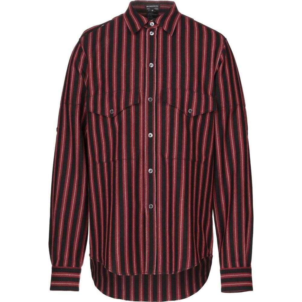 アンドゥムルメステール ANN DEMEULEMEESTER メンズ シャツ トップス【striped shirt】Red