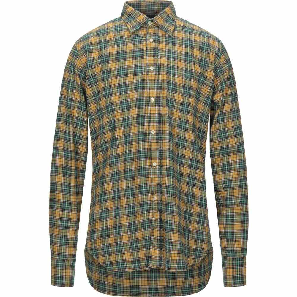 ベヴィラクア BEVILACQUA メンズ シャツ トップス【checked shirt】Yellow