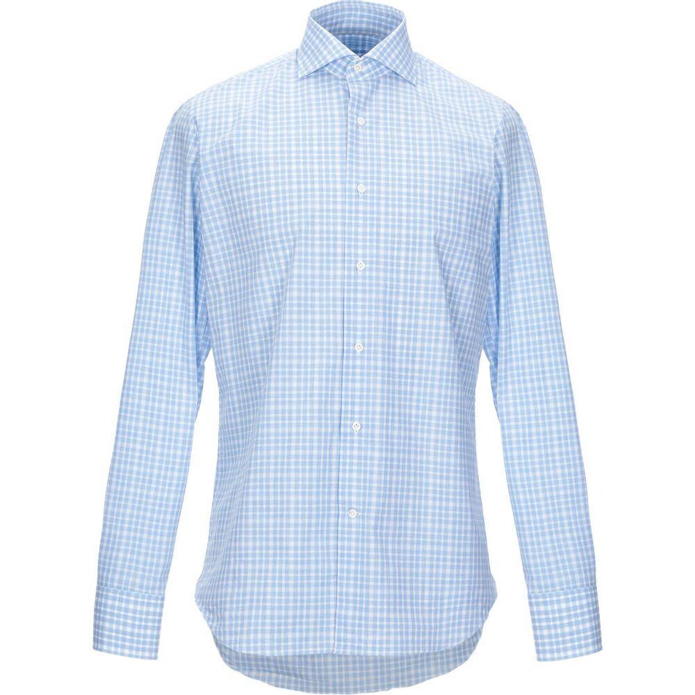 アレッサンドロ ゲラルディ ALESSANDRO GHERARDI メンズ シャツ トップス【checked shirt】Sky blue