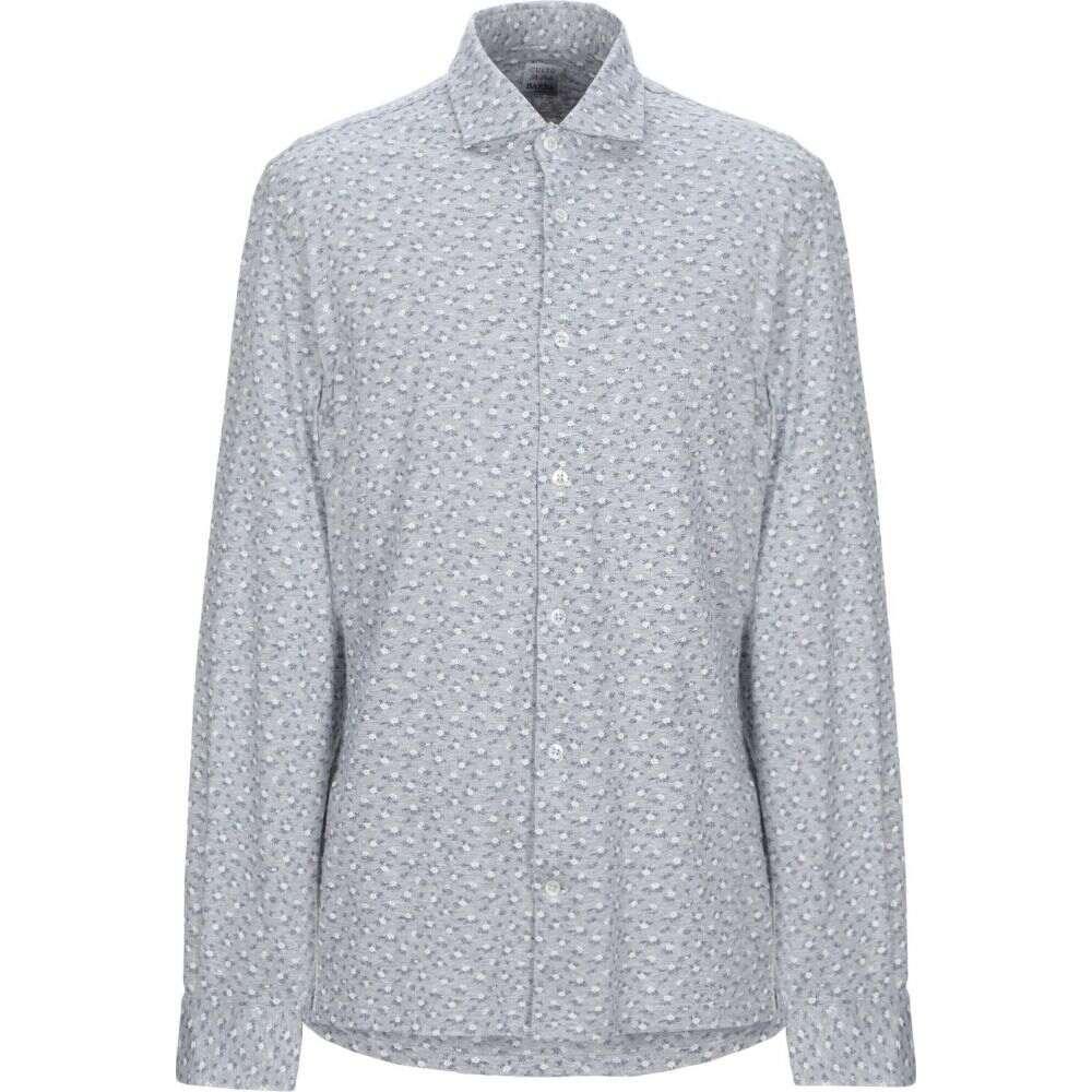 バルバ BARBA Napoli メンズ シャツ トップス【patterned shirt】Grey