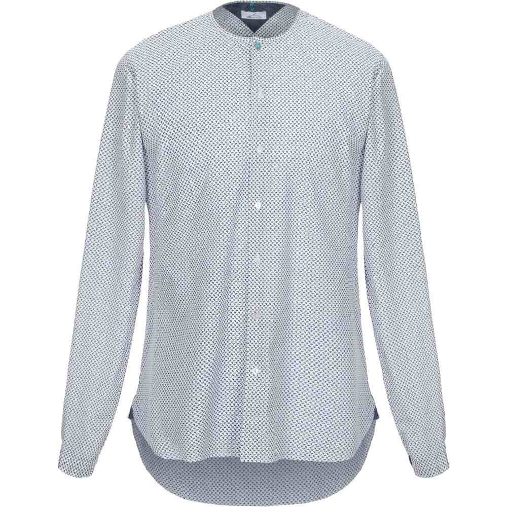 ベルナ BERNA メンズ シャツ トップス【patterned shirt】White