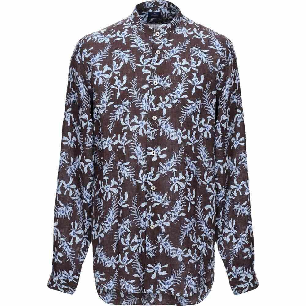アレッサンドロ ゲラルディ ALESSANDRO GHERARDI メンズ シャツ トップス【linen shirt】Dark brown