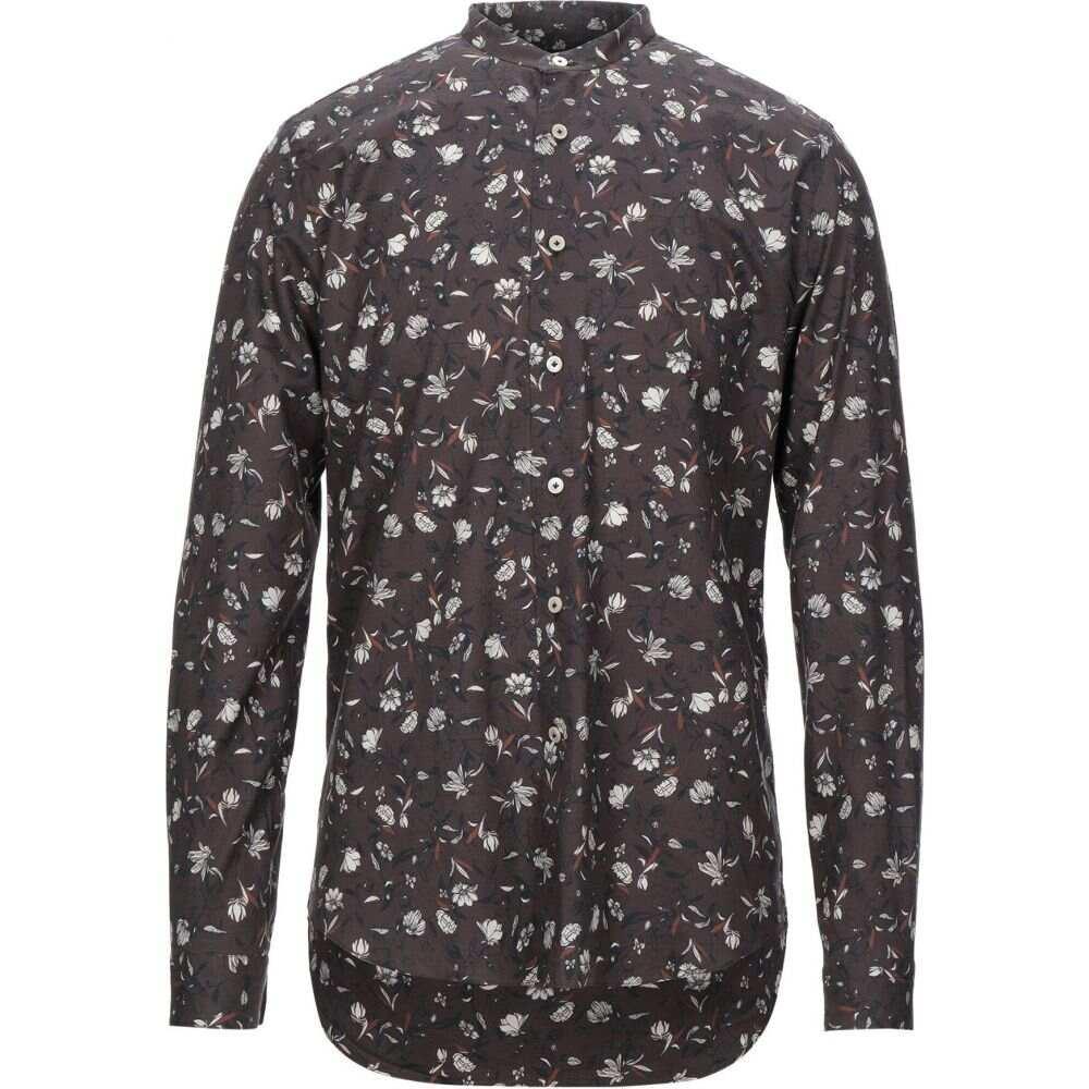 アレッサンドロ ゲラルディ ALESSANDRO GHERARDI メンズ シャツ トップス【patterned shirt】Dark brown