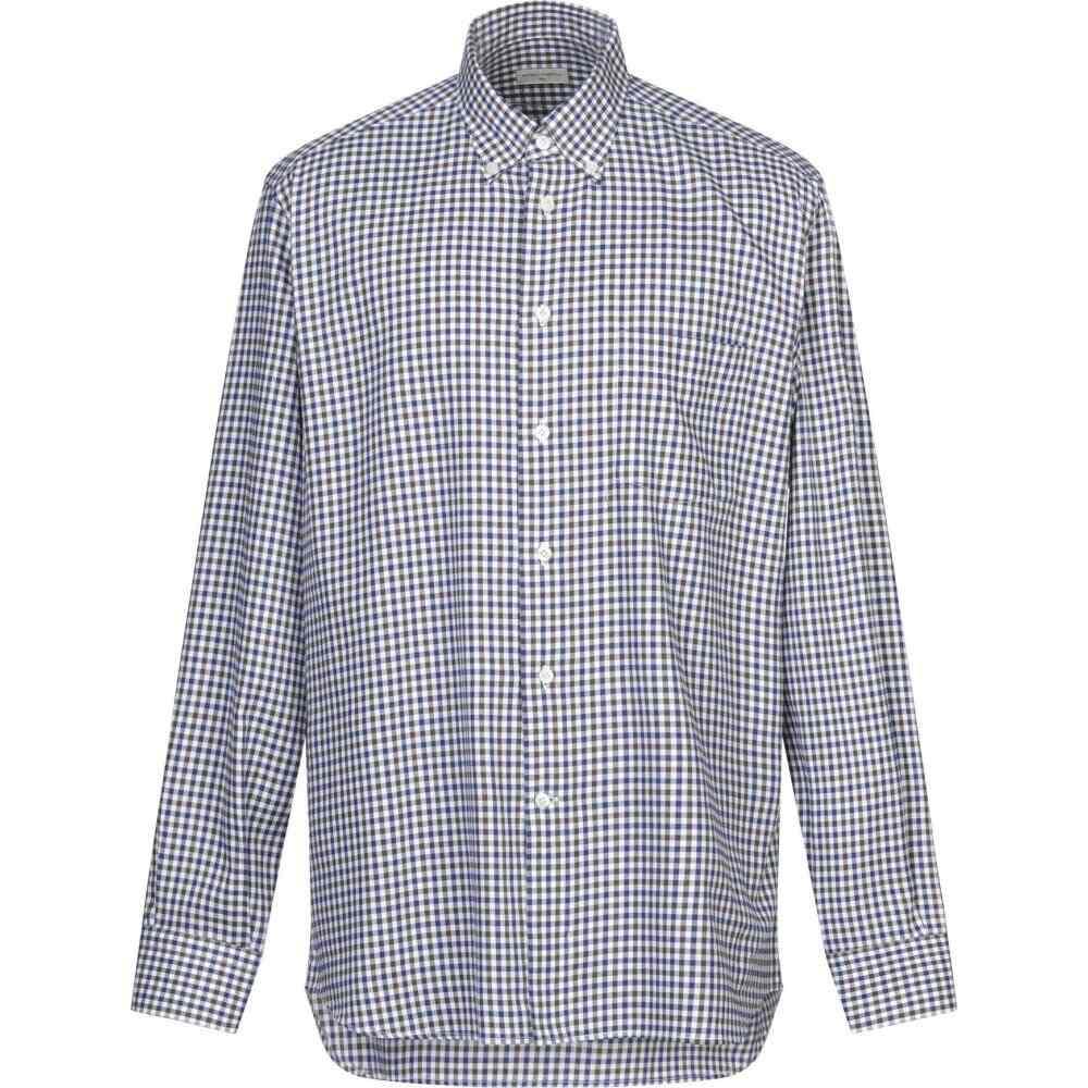 アンジェロ ナルデッリ ANGELO NARDELLI メンズ シャツ トップス【checked shirt】Dark blue