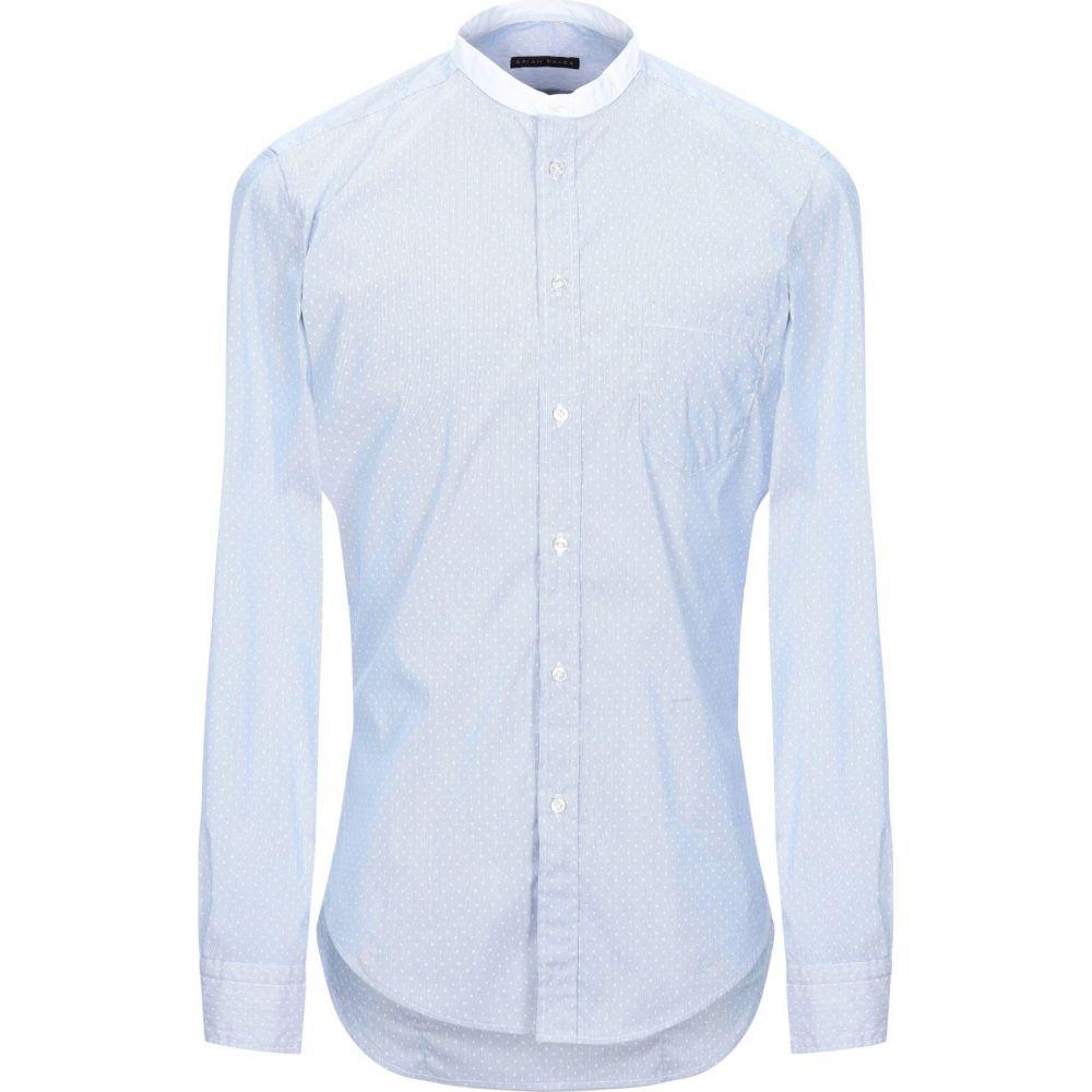 ブライアン デールズ BRIAN DALES メンズ シャツ トップス【patterned shirt】Sky blue