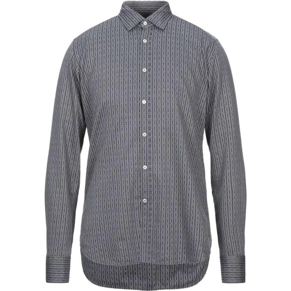 ベヴィラクア BEVILACQUA メンズ シャツ トップス【striped shirt】Grey