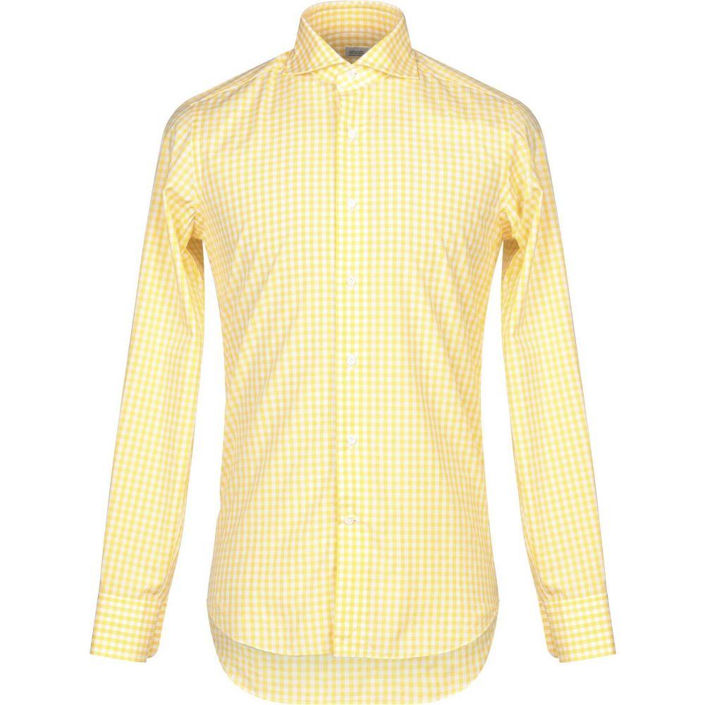 アレッサンドロ ゲラルディ ALESSANDRO GHERARDI メンズ シャツ トップス【checked shirt】Yellow