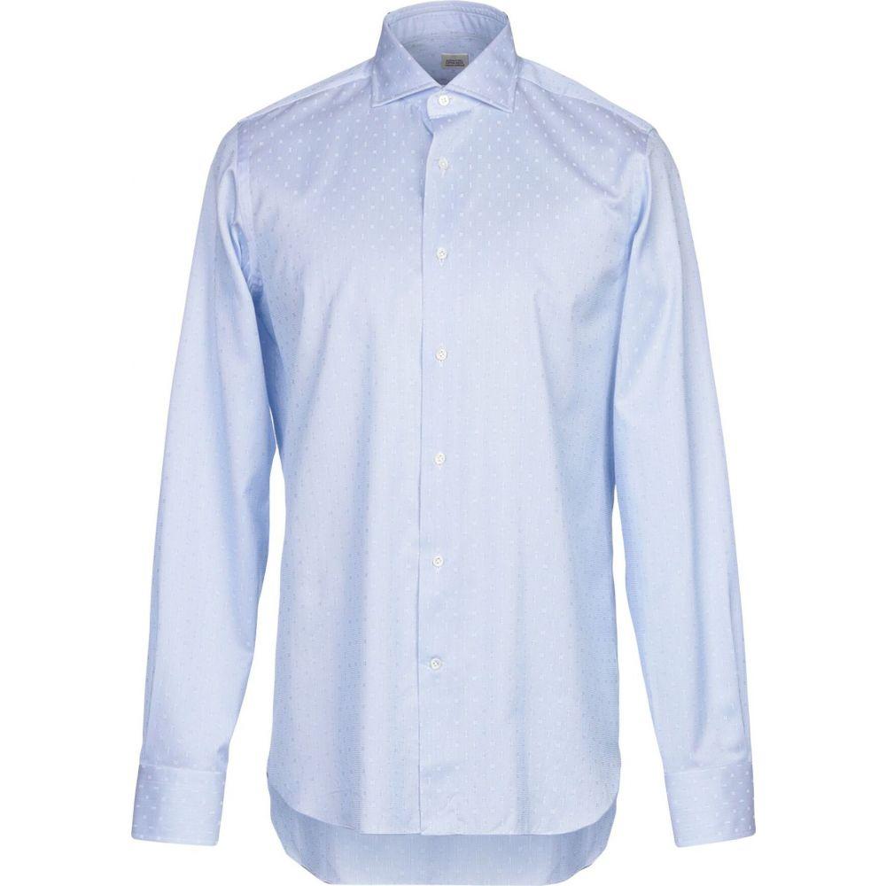 アレッサンドロ ゲラルディ ALESSANDRO GHERARDI メンズ シャツ トップス【patterned shirt】Sky blue