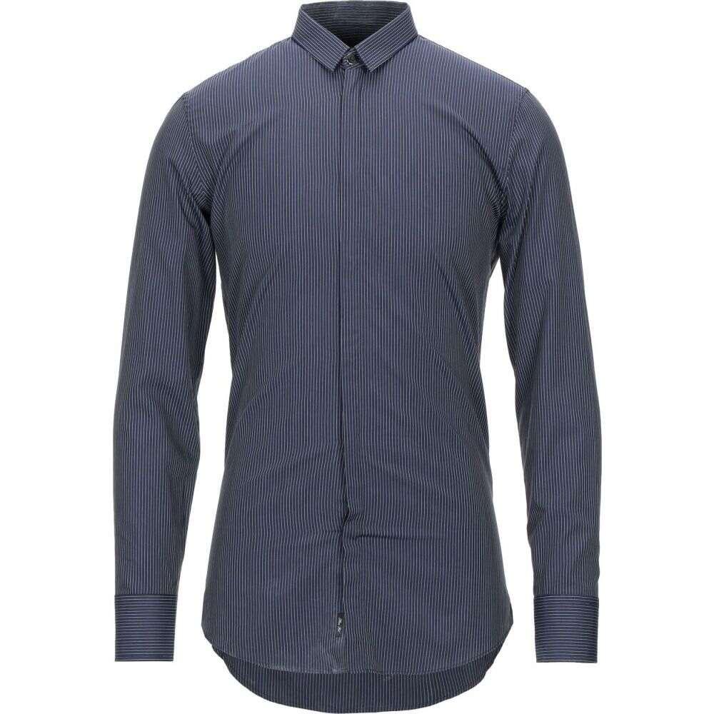ビッケンバーグ BIKKEMBERGS メンズ シャツ トップス【striped shirt】Dark blue