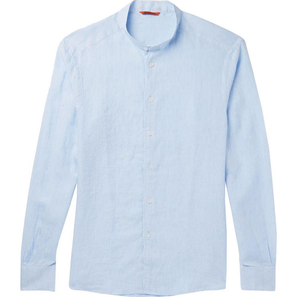 バレナ BARENA メンズ シャツ トップス【linen shirt】Sky blue
