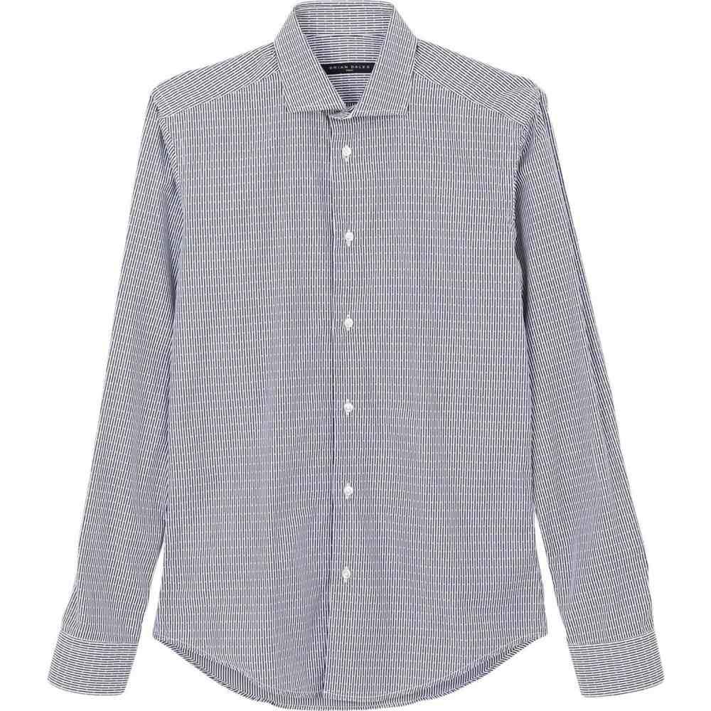 ブライアン デールズ BRIAN DALES メンズ シャツ トップス【striped shirt】Dark blue