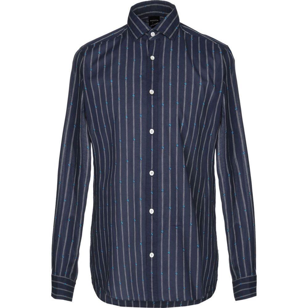 バグッタ BAGUTTA メンズ シャツ トップス【striped shirt】Dark blue