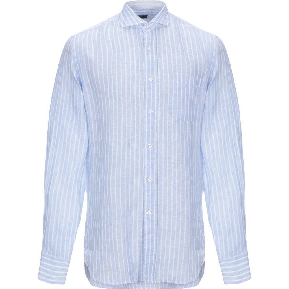 アレッサンドロ ゲラルディ ALESSANDRO GHERARDI メンズ シャツ トップス【linen shirt】Sky blue
