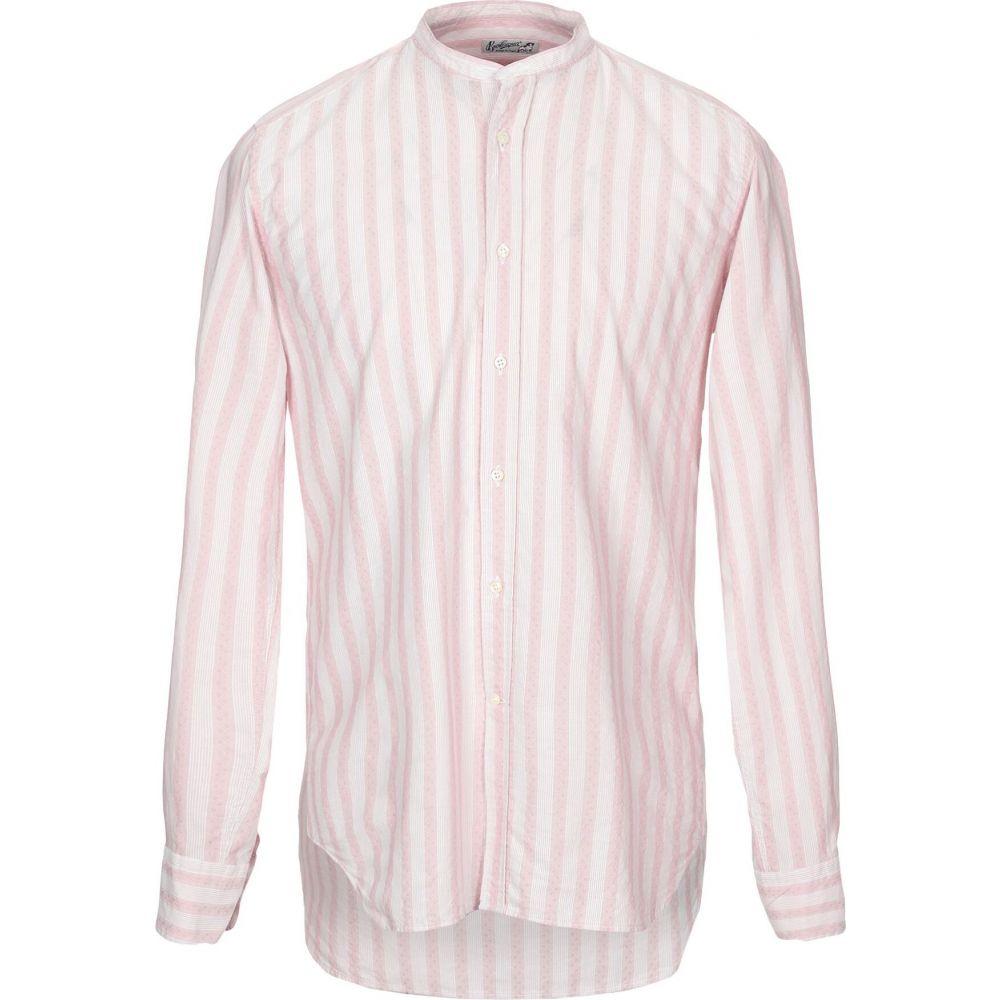 ベヴィラクア BEVILACQUA メンズ シャツ トップス【striped shirt】Pink