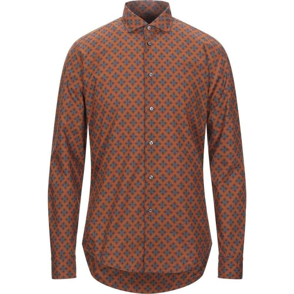 ブライアン デールズ BRIAN DALES メンズ シャツ トップス【patterned shirt】Brown