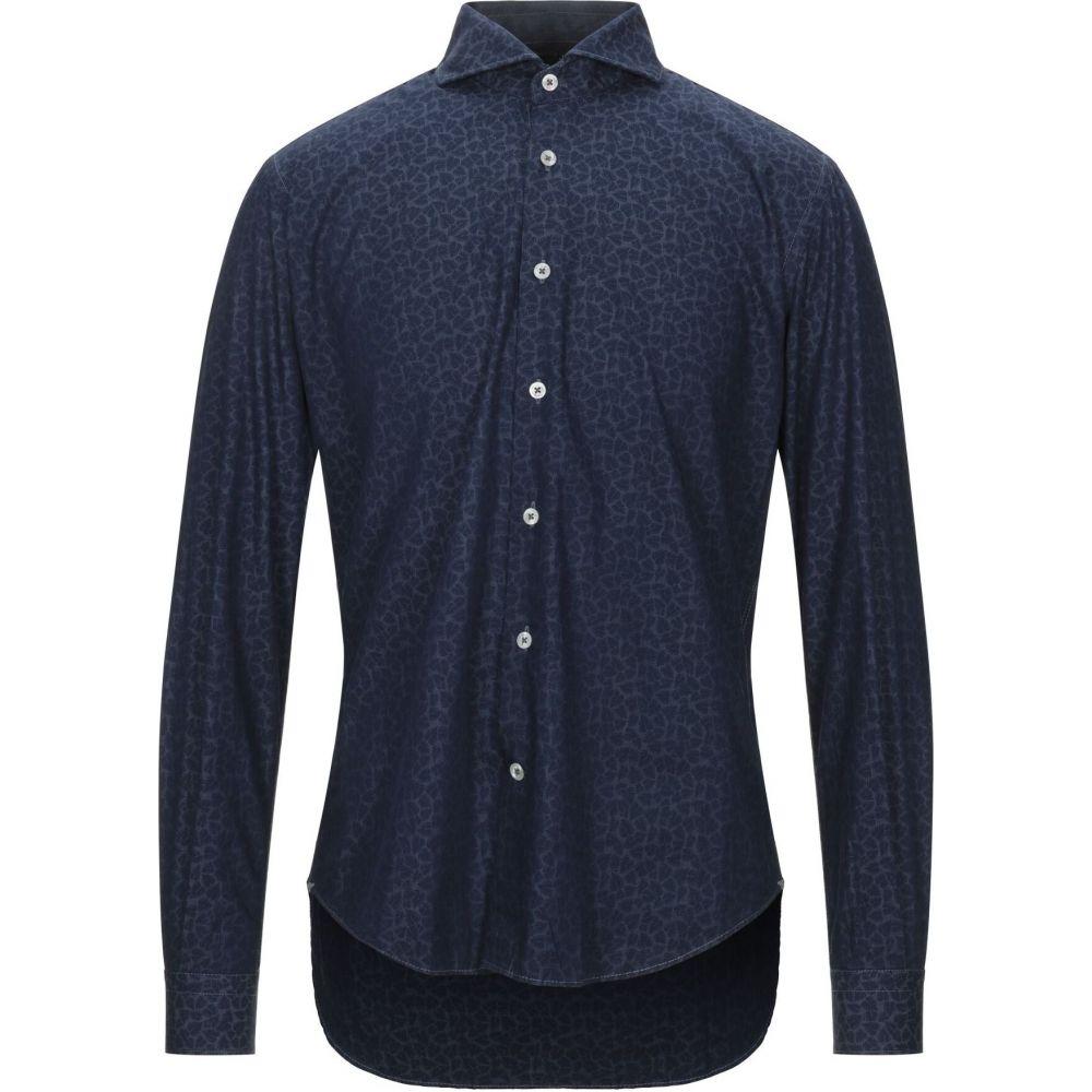 バルバッティ BARBATI メンズ シャツ トップス【patterned shirt】Blue
